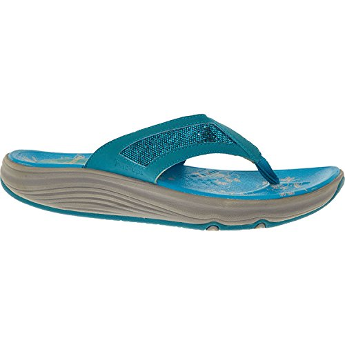 Skechers Tongs Pour Femme Turquoise