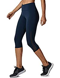 25bea7f30b56b CRZ YOGA Mujer Lycra Compression Leggings Cintura Alta Deportivos Running  Fitness Pantalon con Bolsillo -17