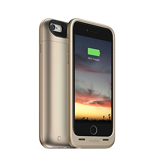 Mophie 3045_JPA-IP6-GLD Juice Pack Air Harte Schutzhülle mit 2750mAh Akku für Apple iPhone 6/6s Gold (Mophie Case Iphone 6)