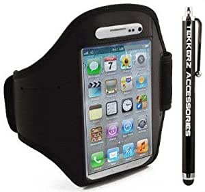 Tekkerz Accessories - iPhone 5 Armband - Fitness Gym Jogging Armband With Tekkerz Accessories Stylus Pen