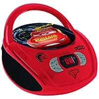 Lexibook Disney Pixar Cars Flash McQueen Radio lecteur CD,Entrée line-in, Pile ou Secteur, Rouge/Noir, RCD108DC_10