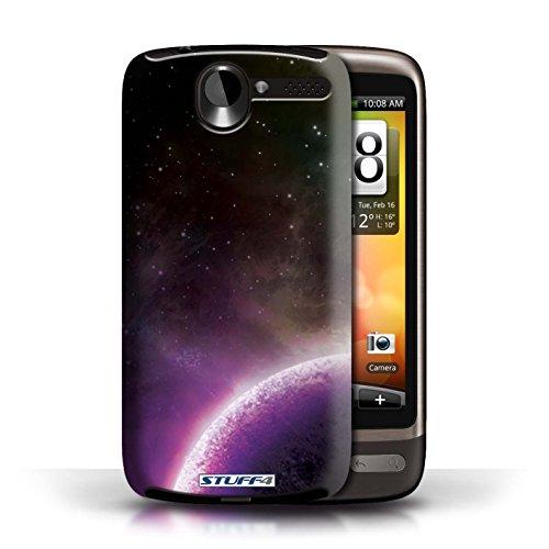 Kobalt® Imprimé Etui / Coque pour HTC Desire G7 / Éclipse Pourpre conception / Série Cosmos Planète Pourpre