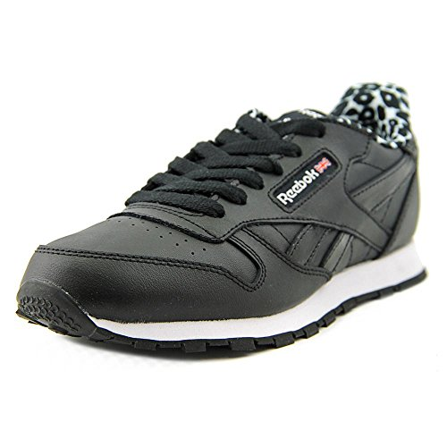 Reebok Classic Leather Animal Cuir Baskets Black-White-Pink
