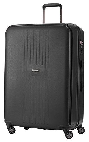 HAUPTSTADTKOFFER - FHAIN Koffer Trolley Hartschale matt, TSA, 77 cm, 110 Liter, Schwarz