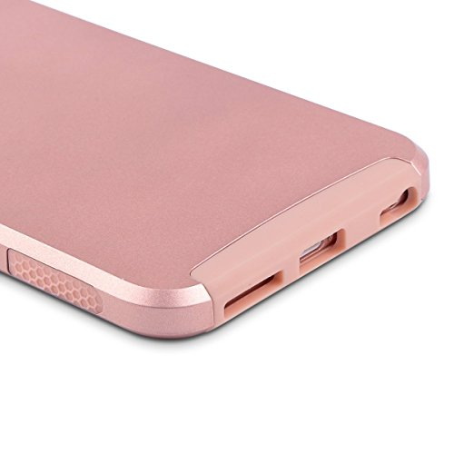 iPhone 6 Plus Hülle, ULAK iPhone 6s Plus 5.5 Hülle Dual Layer Hybrid Schutzhülle Hart PC + TPU Weiche Stoßfest Tasche Case Cover für Apple iPhone 6 Plus/6s Plus 5.5 Zoll(Minze Marmor) Rosé Gold
