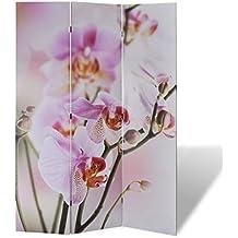 vidaXL Biombo impresión de la flor 120 x 180 cm Decoración Separador Privacidad