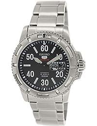 Seiko SRP213K1 - Reloj con correa de acero para hombre, color negro / gris