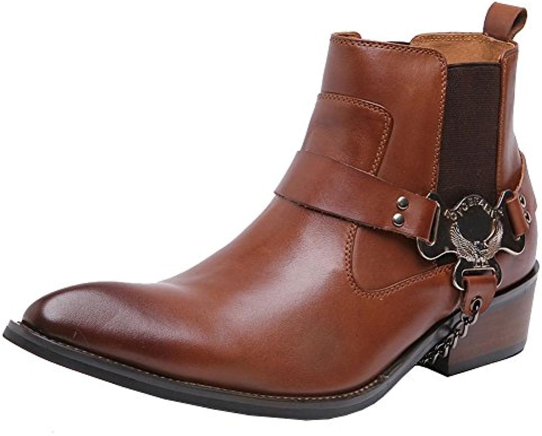 Wuf Stivaletti Da Da Da Uomo In Pelle Cowboy alla Caviglia Classici | Intelligente e pratico  37521d
