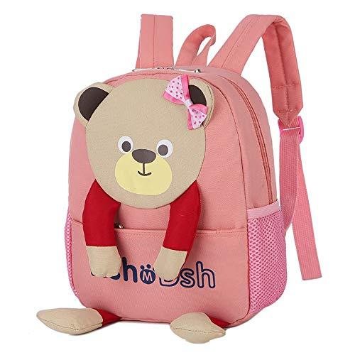 MOIKA Kindergartentasche, Kleinkind Schultaschen, Unisex Baby Jungen Mädchen Tasche Bär Muster Cartoon Buch Daypack Schulter Rucksack, Geschenk für Kinder