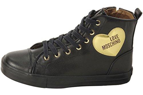 Love Moschino Baskets Coeur D'or Ja15032g14ia200b Vitello Nero / Oro Nero