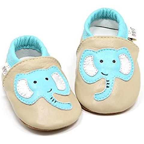 Goldore Baby 100% cuero auténtico con suela blanda recién nacido del niño infantil zapatos antideslizantes Pre-walker 0-2