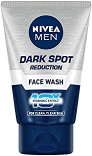 NIVEA Men Face Wash, Dark Spot Reduction, for Clean & Clear Skin with 10x Vitamin C Effect, 1