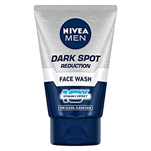 NIVEA Men Face Wash, Dark Spot Reduction, for Clean & Clear Skin with 10x Vitamin C Effect, 100 g