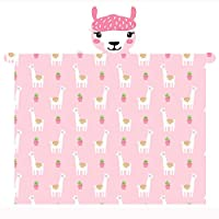 T&A Textiles and Hosiery Ltd Llama Hooded Fleece Blanket