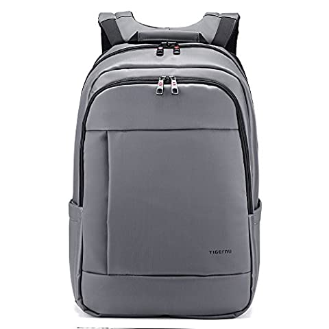 Tigernu Unique Waterproof Resistant Anti-Theft Zip'Laptop Backpack School Business Bags-Gray
