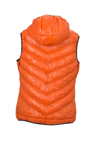 James & Nicholson Damen Jacke Daunenweste Ladies' Down Vest dark-orange/carbon
