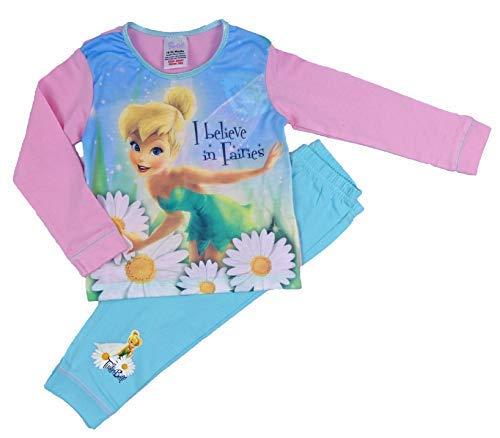 Tinkerbell Mädchen Pyjamas (Disney Princess Kleiner Meerjungfrau und Tinkerbell Pyjama 18months to 3-4 Years - Tinkerbell Pink Aqua, 104)