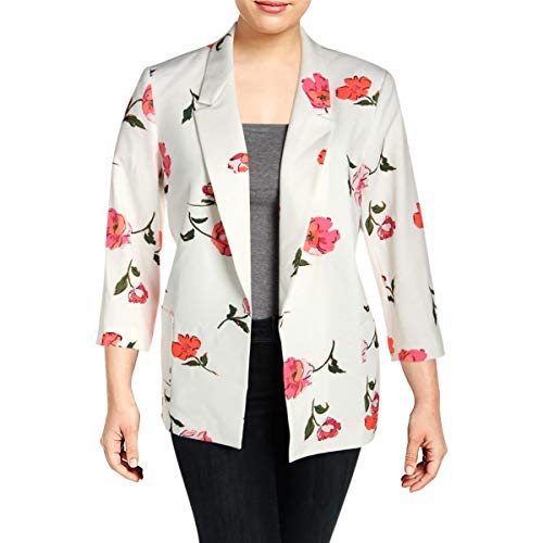 Nine West Womens Floral Print Office Blazer