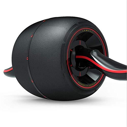ZhongYi Bauchtrainer Roller, Silent Giant Wheel Rebound Fitness-Rad-Trainings-Fitnessgerät, zweifarbig Optional