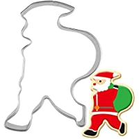 Molde de Navidad para galletas de Papá Noel (envuelto en acero inoxidable)