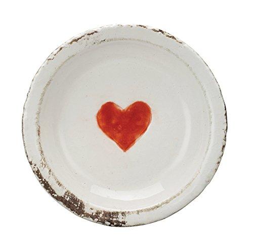 Creative beeinflußt Dekorative Terrakotta-Teller mit Herz, multicolor