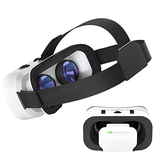 3D Virtual Reality Headset, Hotweild 3D Virtual Reality Mobile Phone[4.7-6.0 Inches] Headset Google Cardboard Glasses VR with Adjustable Big Lens, Elastic headset Strap for Game and Movie enjoyment[ iOS, Android, and Microsoft system compatible]