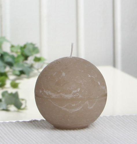 Rustik-Kugelkerze, 6 cm Ø, sand