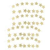 MagiDeal 4 stück Sterne Girlande, 2 meter lange Stern ketten aus Kunstleder Weihnachten Dekoration für Kinderzimmer Hochzeit Party Feier - Gold