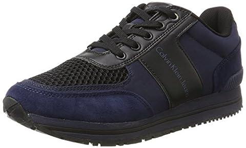 Calvin Klein Herren Estez Suede/Nylon/Smooth Sneaker, Mehrfarbig (Indigo/Black), 41 EU