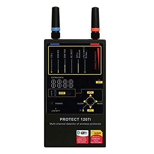 XCUGK Hidden Camera Detector, Bug Detector [Anti-Spion] [Ultrahoch] RF-Signal, Radiofrequenz, Bug Scanner-Erkennungsgerät GPS-Detektor Anti-Spion-Kamera Finder (Spion-telefon-gps)