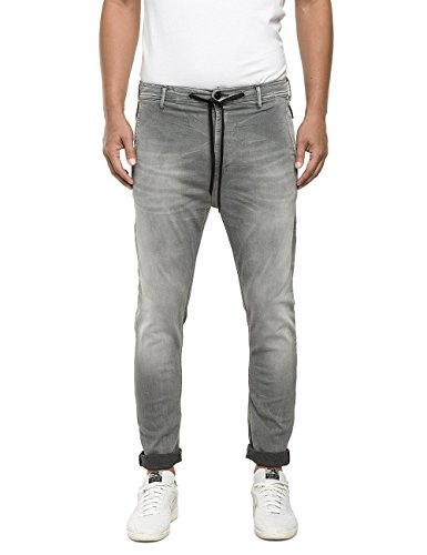 Replay Hyperfree Herren Jeanshose M9541 .000.51B A04, Grau (Grey Denim 009), W30