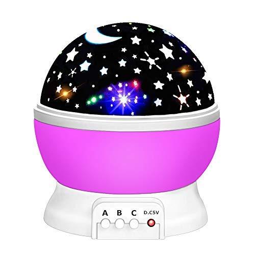 Geschenke 2-8 Jährige Mädchen, Friday Nacht Beleuchtung Lampe für Kinder 2-6 Jahre alt Junge Mädchen Spielzeug Geschenke für 2-10 Jahre alt Jungen Mädchen Spielzeug Alter 3-10 Purple FDDENL02