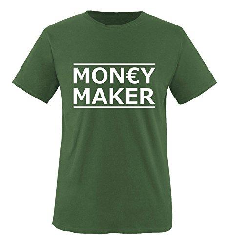 Comedy Shirts - Money maker - Herren T-Shirt - Oliv / Weiss Gr. XXL (Ozon-maker)