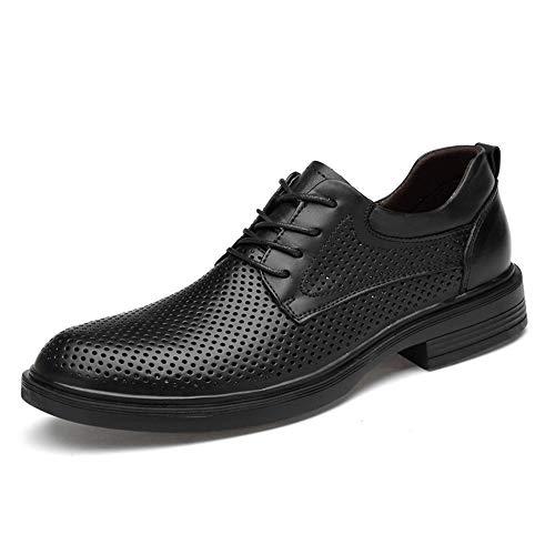 Apragaz Scarpe uomo In Pelle Stile Stringato Formali da Uomo Scarpe Eleganti con Tomaia Traspirante (Color : Nero, Dimensione : 49 EU)