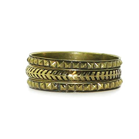 3 Piece Set: Stackable Metal Bracelet Set