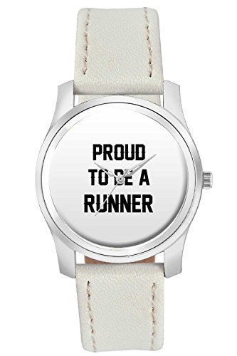 BigOwl Proud To Be A Runner Best Gift For RUNNER Fashion Watches for Girls - Awesome Gift for Daughter/Sister/Wife/Girlfriend - Casual Quirky Typography Designer Analog Leather Band Watch (Perfect Gift for Girls)