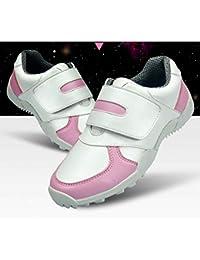 FUBULE Zapatos de Golf Hijos Pico-Menos los Zapatos Impermeables Antideslizante Resistente al Desgaste de múltiples Funciones al Aire Libre
