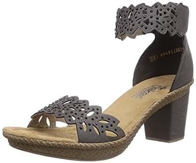 rieker 66555 damen kn chelriemchen sandalen schuhe handtaschen. Black Bedroom Furniture Sets. Home Design Ideas
