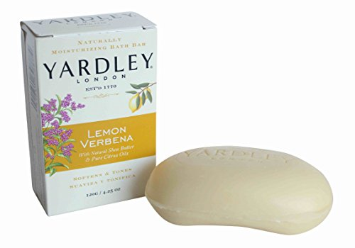 Yardley London Moisturising Bath Soap Bar Bundle – 5x120g – Lemon Verbena