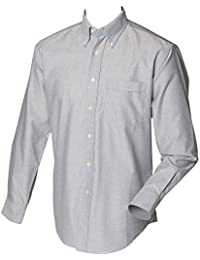 Henbury Long Sleeve Fitted Classic Oxford Shirt