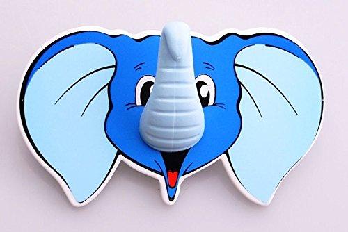 De-Plastik Kinderhaken Wandhaken Klebehaken mit Elefant Motiv
