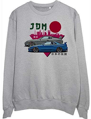 Legendary JDM Heros Toyota Supra and Nissan GTR r34 Fan Artwork Unisex Pullover Sweatshirt - Ring Spun Cotton Sweatshirt - Soft and Warm Inside - DTG Printed