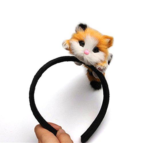 LKXHarleya Women Girls 3D Cat Ear Headband Lovely Hair Hoop Kitten HairBand for Halloween Costume Party Cosplay