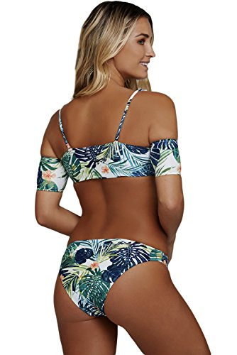 Wellwits Damen Bikini-Set, gemustert Multi