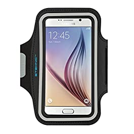 eTEKNIC Running Sports Armband for Samsung Galaxy S5 / S6 / S7 / S6 Edge Adjustable Holder for Sport, Jogging, Workout, Walking, Exercise, Fitness, Gym Protective Case [Extender Strap Included]