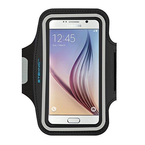 Eteknic fascia da braccio sportiva cover per samsung galaxy s7 / s6 / s5 / s6 edge regolabile, supporto per correre, jogging, palestra, fitness, cinghia regolabile inclusa