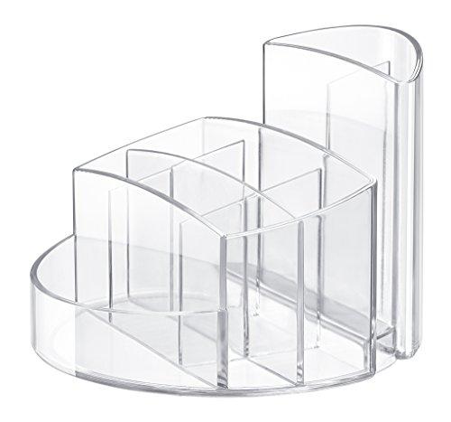 HAN Stifteköcher RONDO 17460-23 in Transparent-Glasklar - Stiftebox aus hochwertigem Kunststoff mit 9 Fächern - Schreibtisch Ordnungssystem für das Büro (Schreibtisch Für Stifthalter)