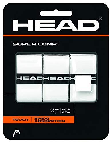 HEAD Super Comp Griffband, Unisex, weiß, 3 Pack