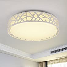 TOYM- Blanco Ronda Moderno techo minimalista Dormitorio Sala de estar Comedor Estudio lámpara LED ( Color : 30WLED Warm White )