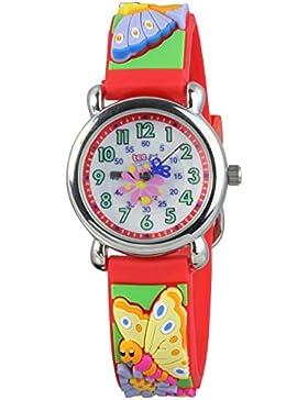 Teenie UW753R Kinder–Armbanduhr Kinder, Kautschukband Farbe Rot